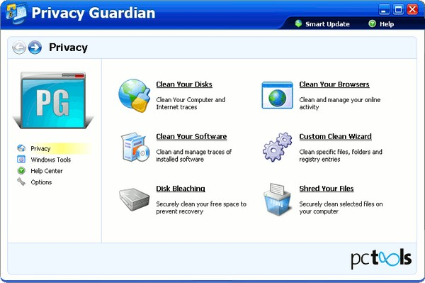 PC Tools Privacy Guardian 2011