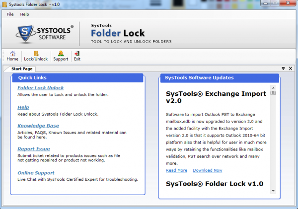 SysTools Folder Lock Software para proteger pastas