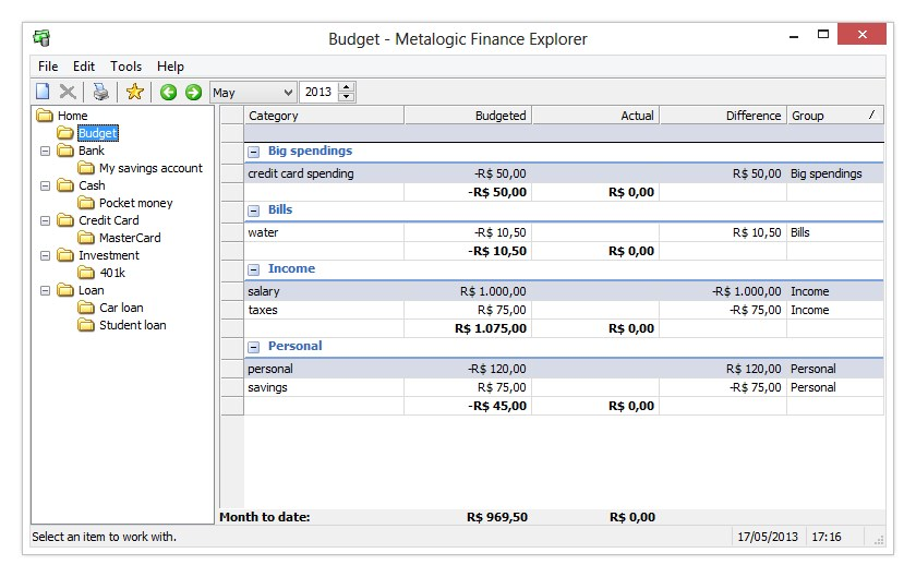 Metalogic Finance Explorer Portable